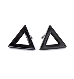 Náušnice Triangle Black